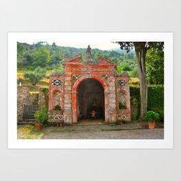 Tuscan Garden Grotto Vorno Italy Art Print
