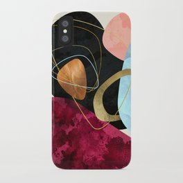 Abstract Pebbles II iPhone Case
