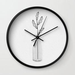 Leaf Still Life Wall Clock