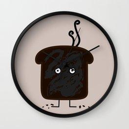 Happy Burnt Toast Wall Clock