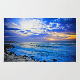 Tel Aviv Beach Sunset Rug