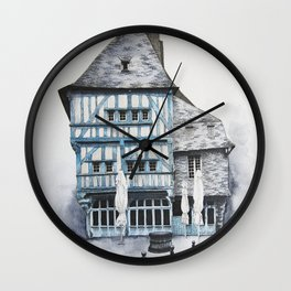Dinan, Brittany Wall Clock