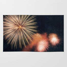 Fire Works photography Rug