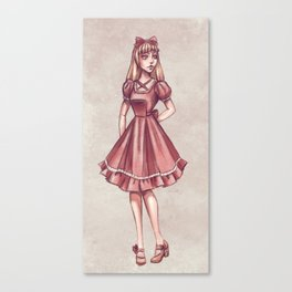 Old School Classic Lolita Canvas Print