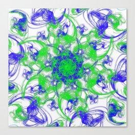 Symmetrical Swirl Canvas Print