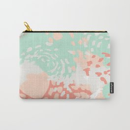 Pippa - Abstract minimal painted pastels painting trendy modern color palette Carry-All Pouch