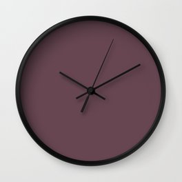 Dark Plum, Solid Color Collection Wall Clock
