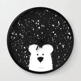 Beary Snowy Wall Clock