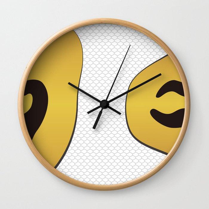 Piebald Ball Python Ver.2 Wall Clock
