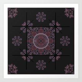 dot painted mandala Art Print