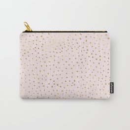 Dotted Gold & Pink Carry-All Pouch