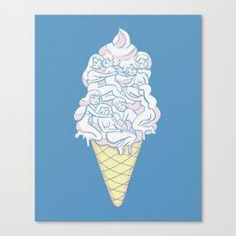 Cute Icecream Canvas Print