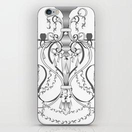 Chandelier - Black&White iPhone Skin