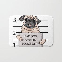 mugshot dog cartoon. Bath Mat