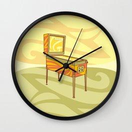 Retro games pinball machine Wall Clock