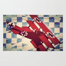 Fokker triplane (Red Baron) Pop Art Rug