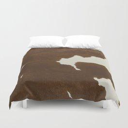 Dark Brown & White Cow Hide Duvet Cover