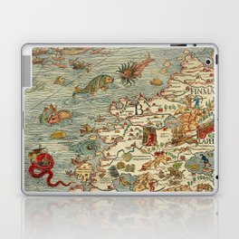 Medieval Map Scandinavia 1539 Laptop & iPad Skin