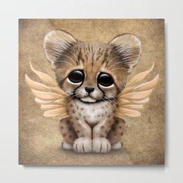 Cute Baby Cheetah Cub with Fairy Wings Metal Print