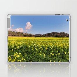 yellow flower meadow Laptop & iPad Skin