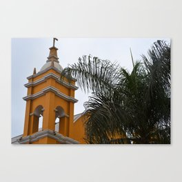 Yellow Villa Canvas Print