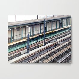 Train platform at Bay 50 street Metal Print