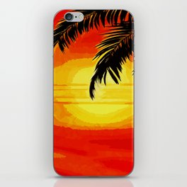 Sunset under the Palm trees iPhone Skin