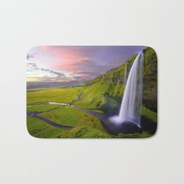 Seljalandsfoss Waterfall, Iceland Bath Mat