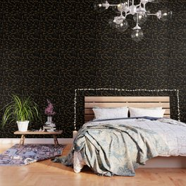 Camouflage Black and Tan Wallpaper