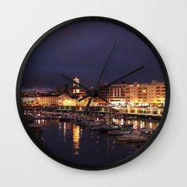 Ponta Delgada at night Wall Clock