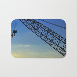 Sunset Construction Crane Bath Mat