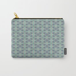 Butterfly Semi-Plaid Carry-All Pouch