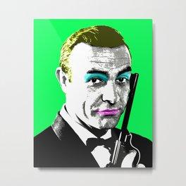 Ooh Ooh Seven - Green Metal Print