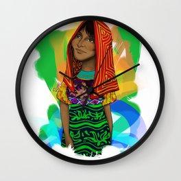 Ustup - kuna/guna girl Wall Clock