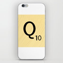Scrabble Q - Large Scrabble Tile Letter iPhone Skin