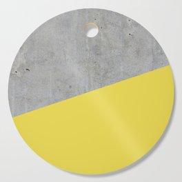 Concrete and Meadowlark Color Cutting Board