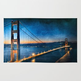 Golden Gate Ghost Bridge Rug