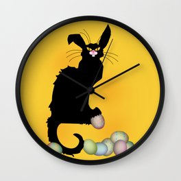 Le Chat Noir - Easter Wall Clock