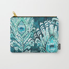 PEACOCKY - TEAL Carry-All Pouch