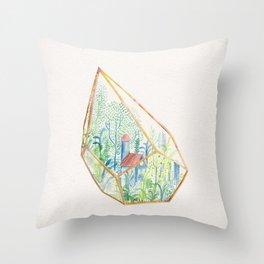 Terrarium Garden I Throw Pillow