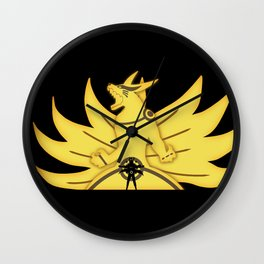 The Demon Fox Within Wall Clock