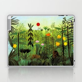 """Henri Rousseau """"Exotic Landscape with Lion and Lioness in Africa"""", 1903-1910 Laptop & iPad Skin"""