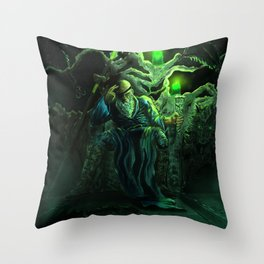 Odin and his loyal beasts Throw Pillow