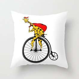 Giraffe Santa Chritmas Throw Pillow