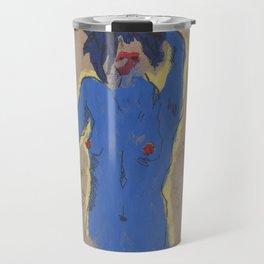Huellas:  the blue one Travel Mug