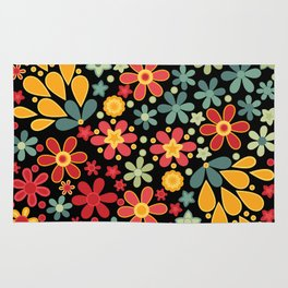 Retro.  Floral motifs Rug