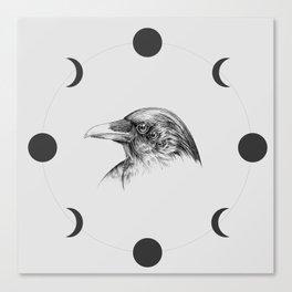 Six Eyed Raven Canvas Print