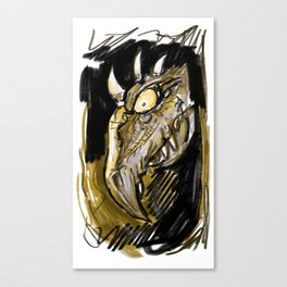 Monster Face Canvas Print