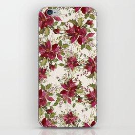 Poinsettia Pattern iPhone Skin