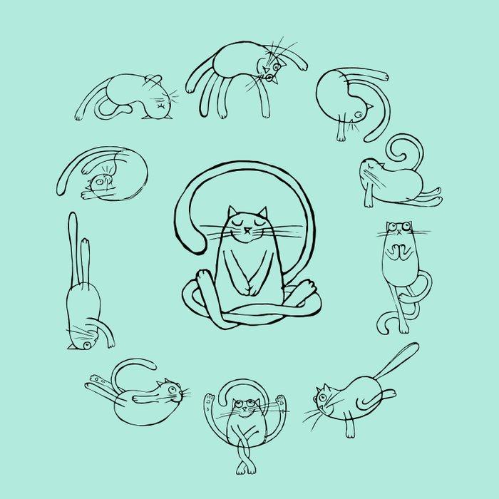 Yoga cats 2 Duvet Cover